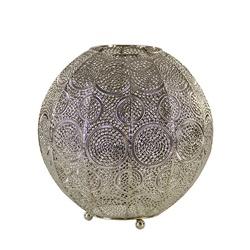 Oriental tafellamp bol oud zilver