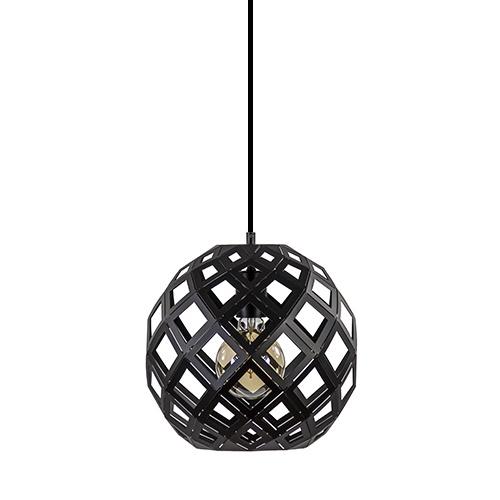 Hanglamp bol zwart open frame 30cm