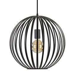 Hanglamp bol zwart open frame verticaal