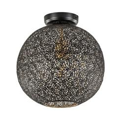 Plafondlamp Oronero bol zwart/goud 30cm