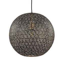 Hanglamp Oronero bol zwart/goud 40cm