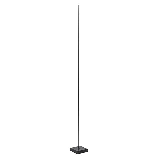 Vloerlamp Think pin zwart met pushdimmer
