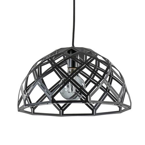 Hanglamp Emma koepel zwart open 40cm