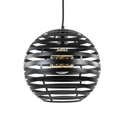 Zwart metalen hanglamp bol 30 cm