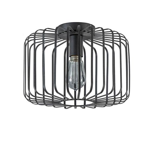 Plafondlamp cilinder draad zwart 33cm