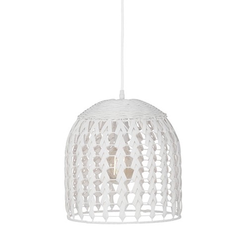 **Beach style hanglamp gevlochten hout