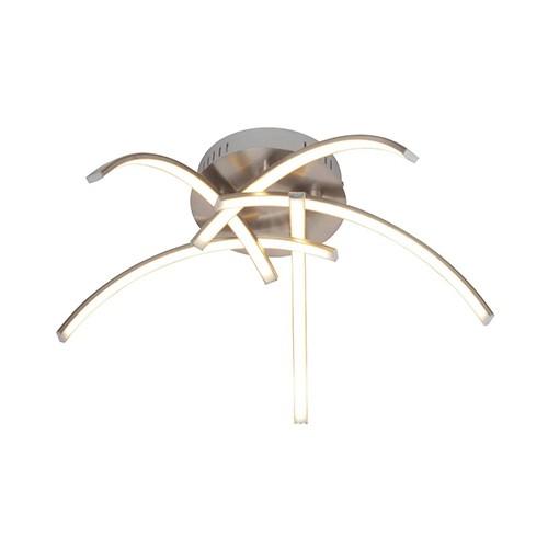 Plafondlamp 5-armen Casca nikkel dimbaar