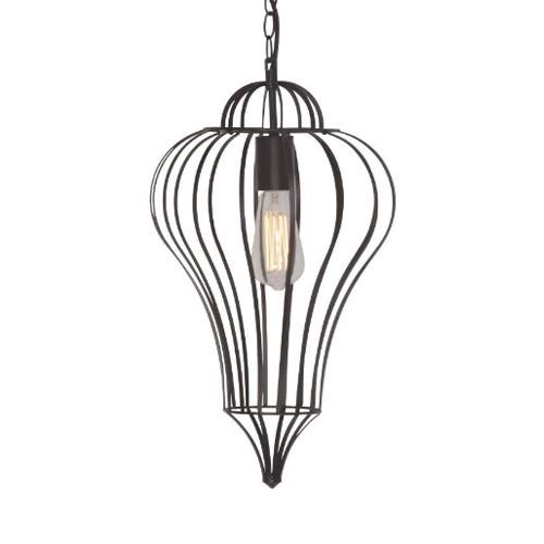 **Oosterse hanglamp draadlamp zwart hal
