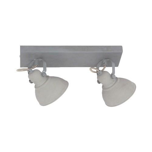 2-lichts plafondspot industrie betonlook