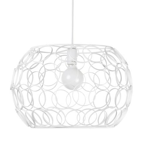 Witte hanglamp met open ringen groot