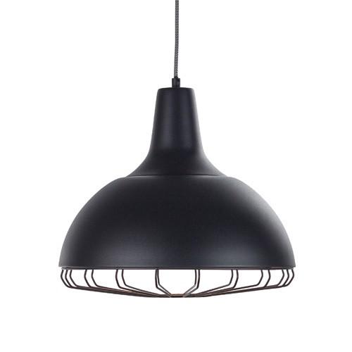 **Zwarte hanglamp industrieel rooster