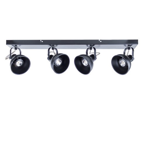 Zwarte plafondspot-plafondlamp LED 4-L