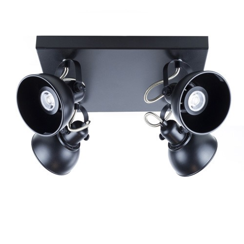 Zwarte industriele plafondlamp LED