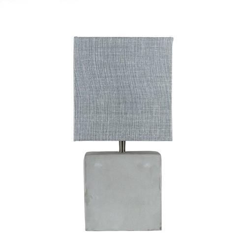 *Vierkante schemerlamp met beton voet