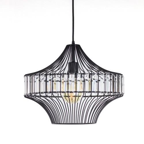 **Moderne draad hanglamp zwart keuken