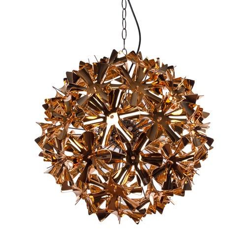*Decoratieve hanglamp koper bloemen