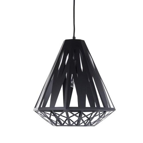 *Moderne hanglamp Enzo zwart geometris