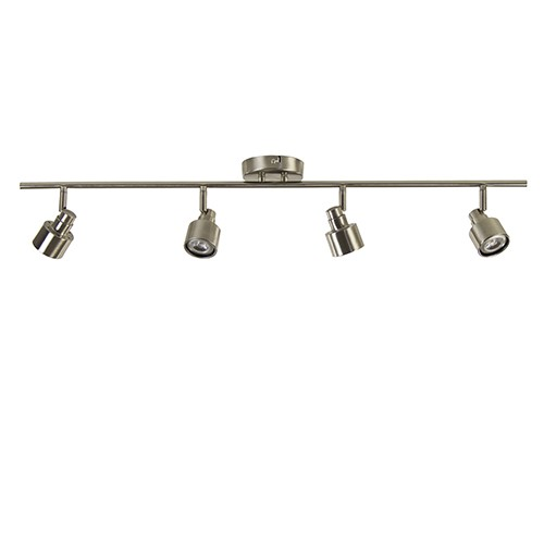 **Plafondspot nikkel 4-lichts incl. led