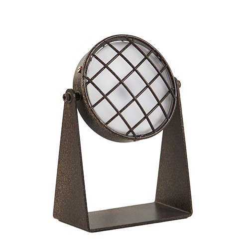 Dimbare roestbruine tafellamp LED