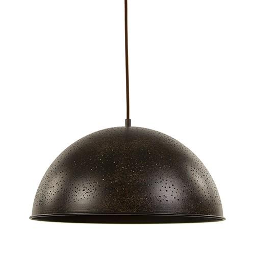 Roestbruine hanglamp-koepel met gaatjes