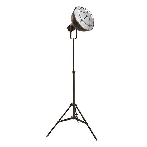 *Industriele staande lamp roestbruin