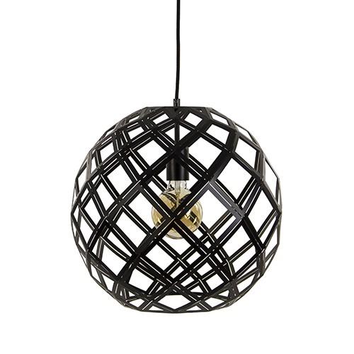 Ronde zwarte hanglamp scandinavisch