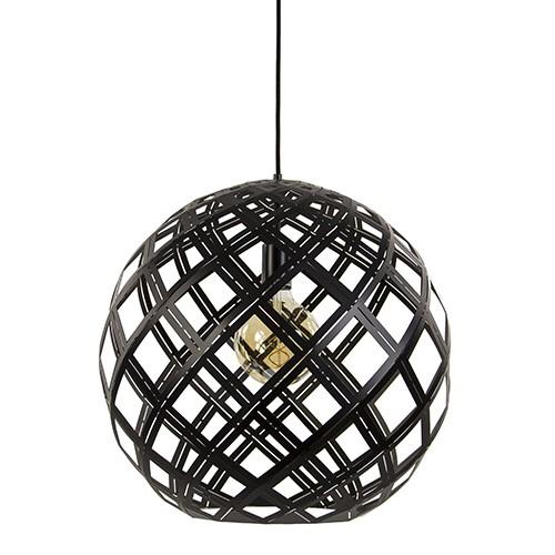 Metalen zwarte hanglamp bol groot