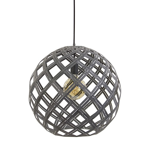 Magnifiek Grote bol hanglamp betonlook | Straluma JN39