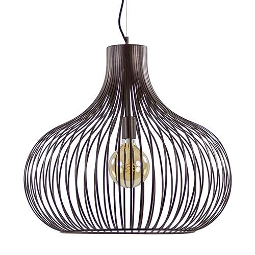 Brons bruinen hanglamp draad groot 60 cm