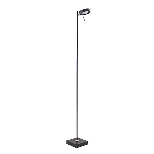 Staande leeslamp zwart met puschdimmer