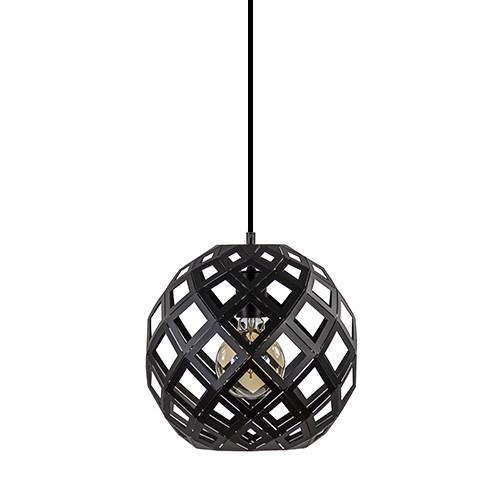 Zwarte hanglamp Scandinavisch 30cm