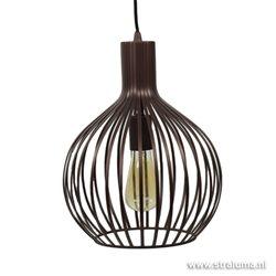 Bruin bronzen draadhanglamp Terme keuken