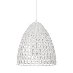 Witte hanglamp Tovano tienerkamer