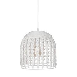 *Beach style hanglamp gevlochten hout
