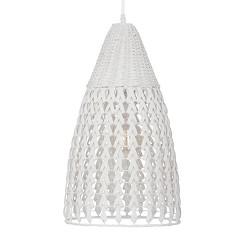**Romantische hanglamp gevlochten hout