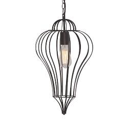 *Oosterse hanglamp draadlamp zwart hal