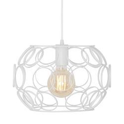 *Scandinavische hanglamp klein wit rin
