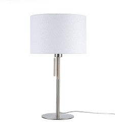 Moderne tafellamp staal met hout