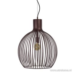 Landelijke bruine hanglamp Terme bol