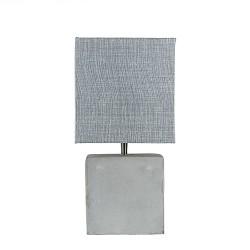 Vierkante schemerlamp met beton voet