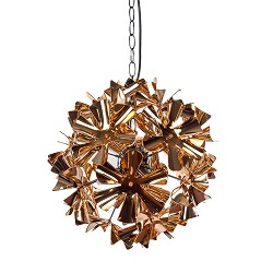 *Decoratieve koper bloemen hanglamp kle