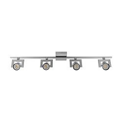 Moderne LED spot-balk 4-lichts staal