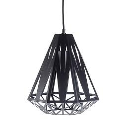 *Grafische hanglamp zwart woonkamer