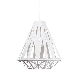 **Moderne hanglamp wit geometrisch Enzo