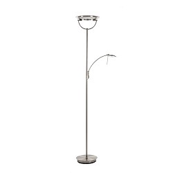 LED Uplighter-vloerlamp staal + leesarm