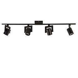 Zwarte plafondspot LED 4-lichts