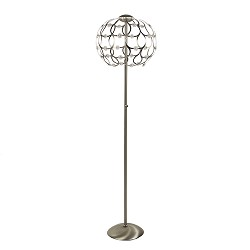 Stalen LED vloerlamp inclusief dimmer