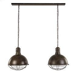 *Roestbruine eettafelhanglamp 2-lichts