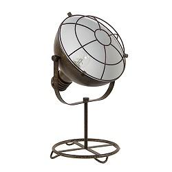 *Roestbruine tafellamp industrie met ko