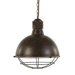 *Roestbruine hanglamp met rooster